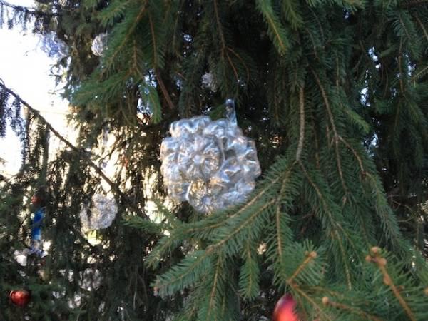 Albero di Natale ecologico in piazza Santuario (inserita in galleria)