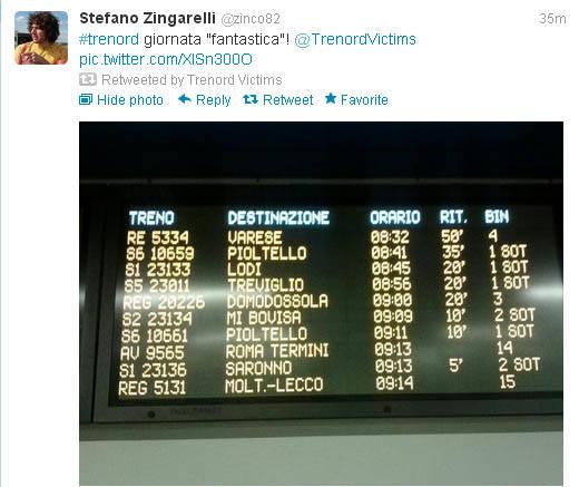 I tweet sul disastro Trenord (inserita in galleria)