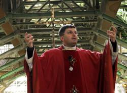 La messa nel cantiere di Pedemontana (inserita in galleria)
