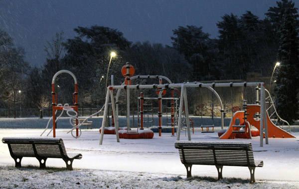 Prima neve a Legnano (inserita in galleria)
