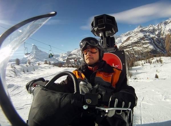 Sulle piste da sci con Google Street View (inserita in galleria)