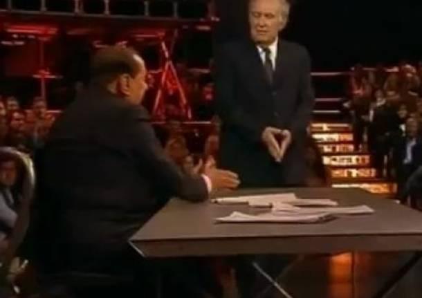 Berlusconi-Santoro, scontro sul conflitto di interessi