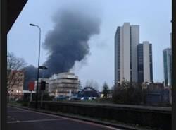 L'elicottero che si schianta a Londra (inserita in galleria)