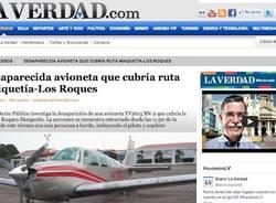La scomparsa dell'aereo in Venezuela (inserita in galleria)