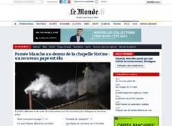 Fumata bianca, i giornali del mondo (inserita in galleria)