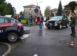 Auto contro Pantera dei Carabinieri (inserita in galleria)