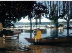Angera, quando il lago sommerse la piazza (inserita in galleria)