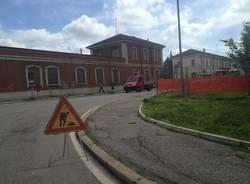 Cantiere nuova rotonda in zona stazione a Gallarate (inserita in galleria)