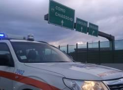 Incidente in autostrada tra due furgoni (inserita in galleria)