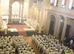 La cerimonia per i nuovi preti al Seminario (inserita in galleria)