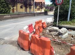 Lavori in corso in zona stazione a Gallarate (inserita in galleria)