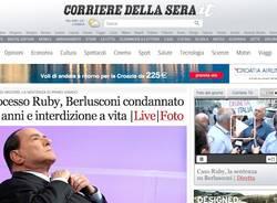 I giornali sulla condanna di Berlusconi (inserita in galleria)