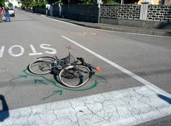 incidente saronno moto bicicletta