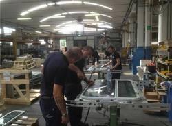 All'interno della fabbrica Sessa Klein a Castronno (inserita in galleria)
