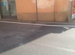 Cardano, bossoli per terra dopo la sparatoria (inserita in galleria)