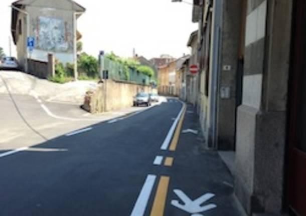 casorate sempione centro strada pista ciclabile apertura
