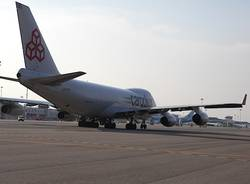 """Ecco """"Monte Rosa"""", il nuovo Boeing di Cargolux a Malpensa (inserita in galleria)"""