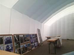 Il campo della Protezione civile a Castronno (inserita in galleria)