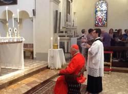 Il Cardinale Tettamanzi inaugura i restauri della chiesa di Porto Valtravaglia (inserita in galleria)