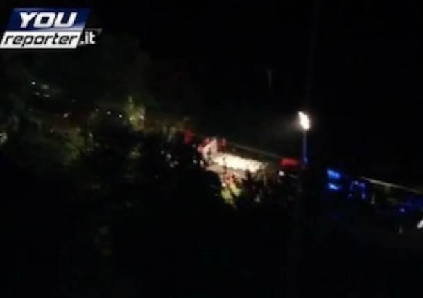Incidente in A16, le operazioni di soccorso