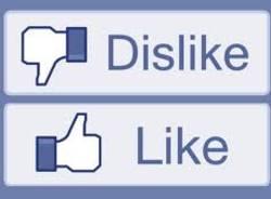 facebooks like dislike