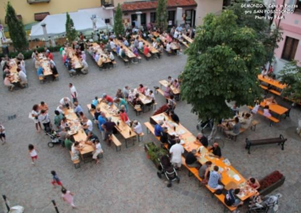 Gnocco fritto in piazza a Gemonio (inserita in galleria)