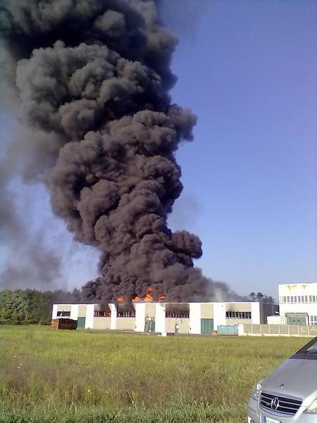 L'incendio alla Bpm