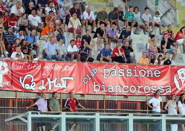 striscione tifosi club passione biancorossa varese calcio