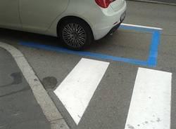strisce pedonali varese via Cavour