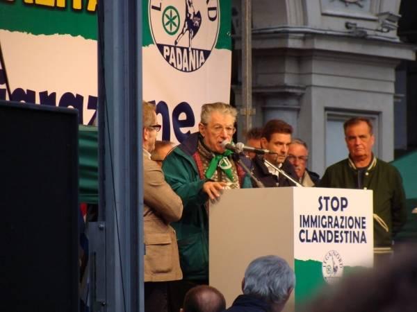 I Big della Lega Nord a Torino (inserita in galleria)