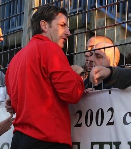Pro Patria: la contestazione dei tifosi (inserita in galleria)