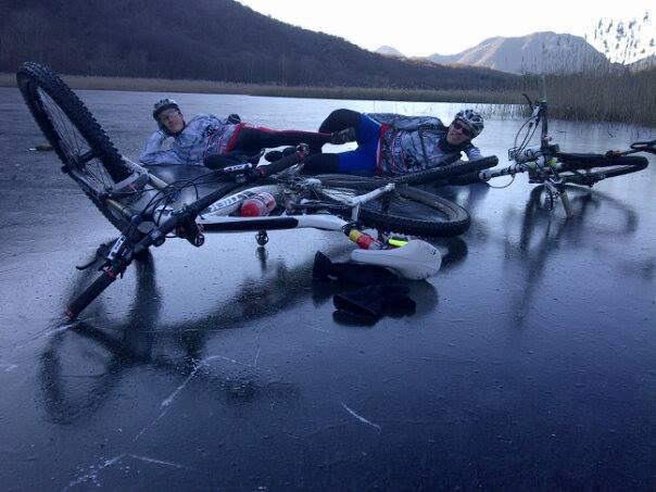 bici sul ghiaccio