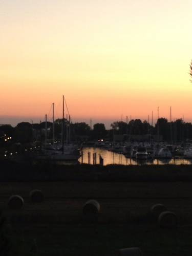 Porticciolo di Lido degli Estensi al tramonto - Agosto 2013 (inviata tramite iPhone app)