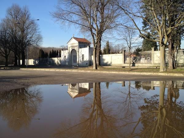 """Il """"lago"""" al cimitero di Crenna (inserita in galleria)"""