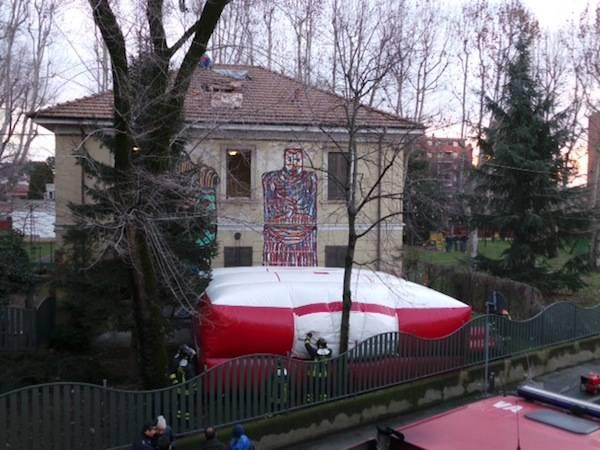 Sgomberato a Saronno l'ex macello (inserita in galleria)