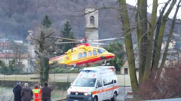 Soccorso con l'elicottero a Marchirolo (inserita in galleria)