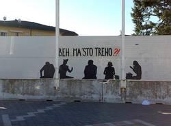 arcisate stabio scritta muro murales