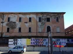 Caserma e Via Spinelli oggi (12 febbraio) (inserita in galleria)