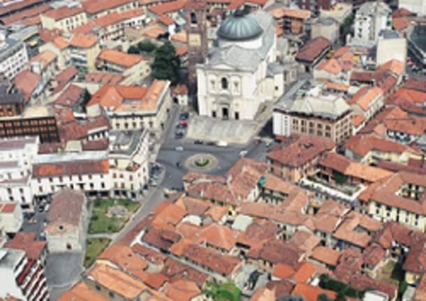 gallarate apertura aerea centro storico basilica