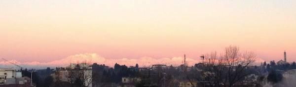 Il Monte Rosa all'alba e al tramonto (inserita in galleria)
