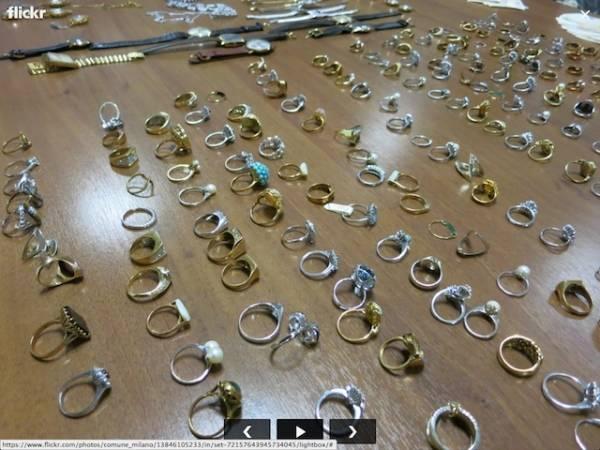 La refurtiva recuperata a Milano: gioielli per 2 milioni (inserita in galleria)