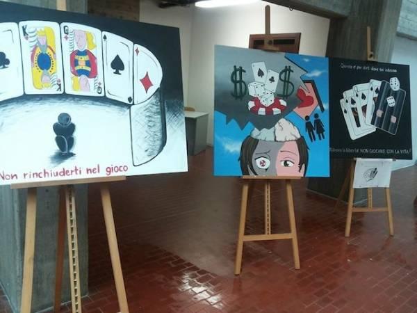 """Una serie di quadri per ire """"no"""" alle ludopatie (inserita in galleria)"""