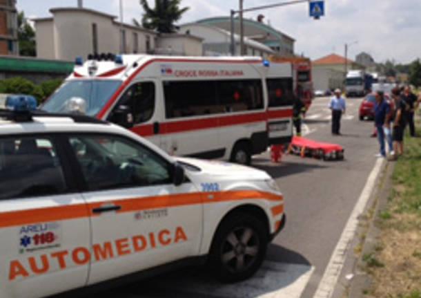 ambulanza automedica investimento sempione castellanza apertura