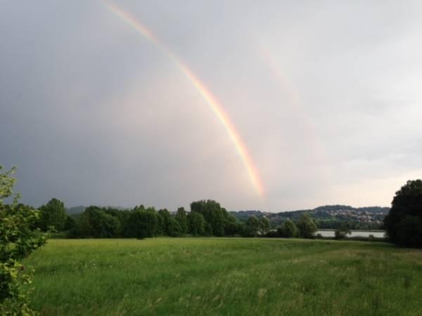 L'arcobaleno di mercoledì sera (inserita in galleria)