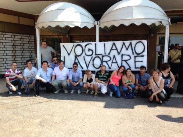 Sala Bingo, lavoratori protestano (inserita in galleria)