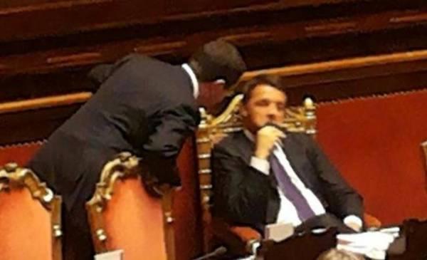 Scontro Candiani-Renzi in Senato (inserita in galleria)