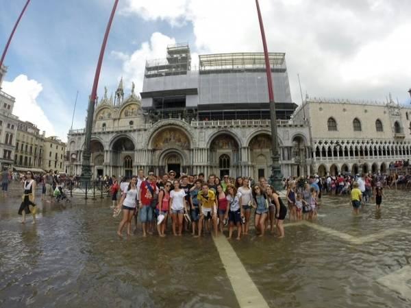 A Venezia in kayak: l'arrivo a San marco (inserita in galleria)
