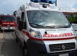 ambulanza incidente Cassano Magnago