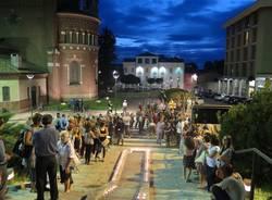 La piazza di Cardano e il ricordo di Laura Prati (inserita in galleria)