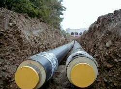teleriscaldamento tubi lavori scavi apertura